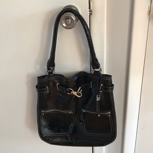 Cole Haan Black Patent Handbag